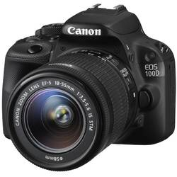 DSLR EOS 100D + EF-S 18-55 IS STM, 18 MP, Negru