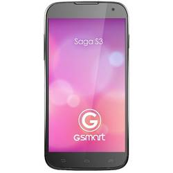 Smartphone GIGABYTE GSmart Saga S3, Dual Sim, IPS LCD capacitive touchscreen 6.0'', Cortex-A7 1.3 GHz, 1GB RAM, 8GB flash, 8.0MP si 2.0MP, Mali 400MP2, 3G, Android 4.2, Negru