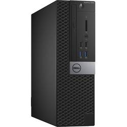 Optiplex 7040 SFF, Core i5-6500 3.2GHz, 8GB DDR4, 500GB HDD, Intel HD 530, Linux, Negru