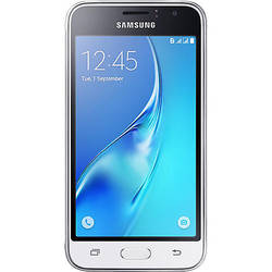 Smartphone Samsung J120 White (2016), Single SIM, 1GB Ram, 8GB, 5MP, 4.5'' Super AMOLED touchscreen, Android Lollipop, 4G, Alb