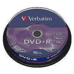 DVD+R AZO 16X 4.7GB Matt Silver Spindle (10 buc)