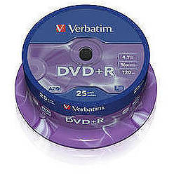 DVD+R AZO 16X 4.7GB Matt Silver Spindle (25 buc)