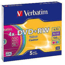 DVD+RW SERL 4X 4.7GB Matt Silver Jewel Case (5 buc)