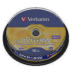 DVD+RW SERL 4X 4.7GB Matt Silver Spindle (10 buc)