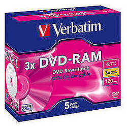 DVD-RAM 3X 4.7GB  Matt Silver Jewel Case (1 buc)