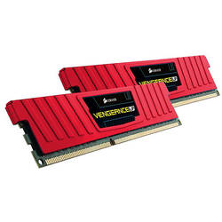 DDR3, 8GB (2 x 4GB), 1866MHz, CL9, Vengeance Red LP, Rev. A