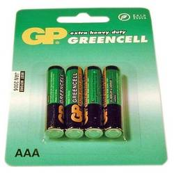 Baterie 4x AAA Zinc-Carbon, Blister, GP Batteries (GP24G-BL4)