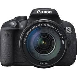 DSLR EOS 700D + EF-S 18-55 IS STM, 18 MP, Negru