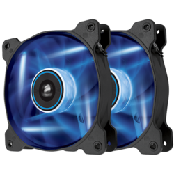 AF120 LED Blue, Quiet Edition High Airflow 120mm Fan, Twin Pack