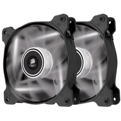 AF120 LED White, Quiet Edition High Airflow 120mm Fan, Twin Pack