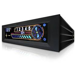 Fan controller NZXT Sentry 2, Intern, Touch Screen, 5 ventilatoare, Negru