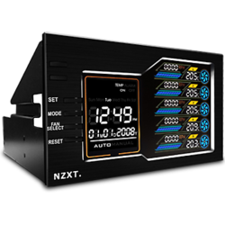 Fan controller NZXT Sentry LX, Extern, Touch Screen, 5 ventilatoare, Negru