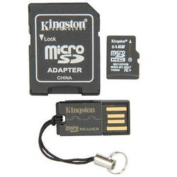 Micro SDHC UHS-I, 64GB, Class 10, inclus Adaptor SD si Card Reader USB 2.0