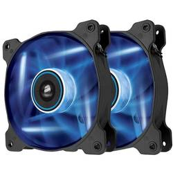 Air Series SP120 LED Blue High Static Pressure 120mm Fan Twin Pack