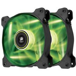 Air Series SP140 LED Green High Static Pressure 140mm Fan Twin Pack