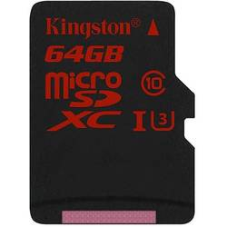 Micro SDXC UHS-I, 64GB, Class 10, Adaptor SD inclus