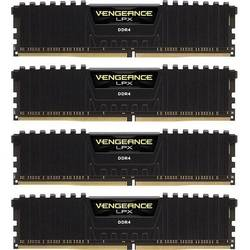 Vengeance LPX Black, 64GB, DDR4, 3333MHz, CL16, Kit Quad Channel