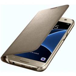 Husa protectie Led View Cover pentru Samsung Galaxy S7 G930, Gold