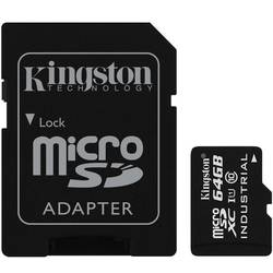 Micro SDXC 64GB UHS-I Industrial Temp Card + adaptor la SD