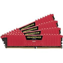 Vengeance LPX Red, 32GB, DDR4, 3000MHz, CL15, 1.35V, Kit Quad Channel