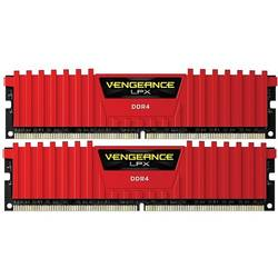 Vengeance LPX Red, 32GB, DDR4, 2400MHz, CL14, 1.2V, Kit Dual Channel