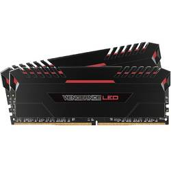 Vengeance Red LED, 16GB, DDR4, 3200MHz, CL16, 1.35V, Kit Dual Channel