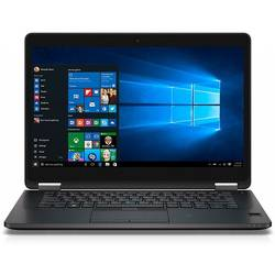 Latitude E7470, 14.0'' FHD, Core i7-6600U 2.6GHz, 8GB DDR4, 512GB SSD, Intel HD 520, FingerPrint Reader, Win 7 Pro 64bit + Win 10 Pro 64bit, Negru