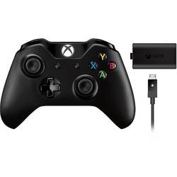 pentru Xbox One, Wireless, Negru + Play & Charge Kit