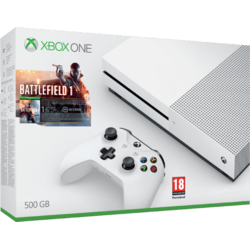 Xbox One S 500GB + Battlefield 1 + 6M live