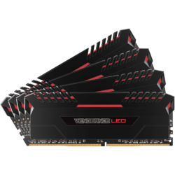 Vengeance LED 32GB DDR4 3000MHz CL15 Red LED Kit Quad Channel