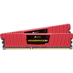Vengeance LP Red 16GB DDR3 1600MHz CL10, Kit Dual