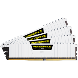 Vengeance LPX White, 32GB DDR4 3200MHz CL16 Kit Quad Channel