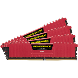 Vengeance LPX Red, 32GB DDR4 3733MHz CL17 Kit Quad Channel