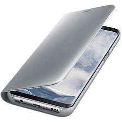 Samsung Clear View Cover pentru Galaxy S8 Plus G955, Argintiu