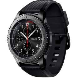 Gear S3 Frontier, 1.3'' Super AMOLED Touch, Dual Core 1.0GHz, 768MB RAM, 4GB, Bluetooth 4.2, Curea silicon, Negru