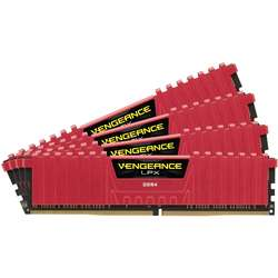 Vengeance LPX Red, 16GB, DDR4, 2800MHz, CL16, 1.2V, Kit Quad Channel