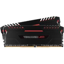Vengeance Red LED, 16GB, DDR4, 3000MHz, CL15, 1.35V, Kit Dual Channel