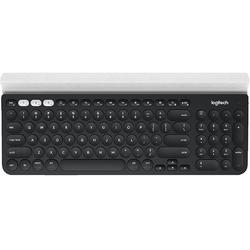 K780, Wireless, USB/Bluetooth, Negru/Alb
