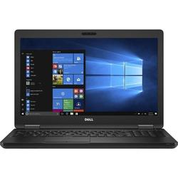 Latitude 5580, 15.6'' FHD, Core i5-7300U 2.6GHz, 16GB DDR4, 256GB SSD, Intel HD 620, FingerPrint Reader, Win 10 Pro 64bit, Negru