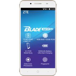 Blade A610 Plus, Dual SIM, 5.5'' IPS LCD Multitouch, Octa Core 1.5GHz + 1.0GHz, 4GB RAM, 32GB, 13MP, 4G, Gold
