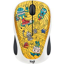 M238 - Doodle Collection - GO-GO GOLD, Wireless, USB, Optic, 1000dpi, Multicolor