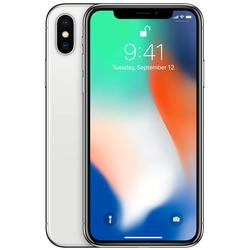 iPhone X, Single SIM, 5.8'' Super AMOLED Multitouch, Hexa Core, 3GB RAM, 256GB, Dual 12MP + 12MP, 4G, Silver