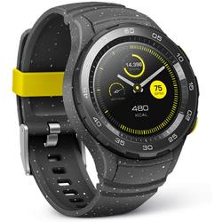 Watch W2, 1.2'' AMOLED Touch, Quad Core 1.1GHz, 768MB RAM, 4GB, Bluetooth 4.1, Curea silicon, Gri
