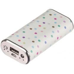 Fashion Polka Dot, 4000 mAh, Alb