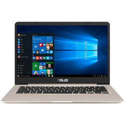 S14 S406UA, 14.0'' FHD, Core i7-8550U 1.8GHz, 8GB DDR3, 256GB SSD, Intel UHD 620, Win 10 Home 64bit, Icicle Gold