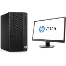 "290 G1 MT, Celeron G3900 2.8GHz, 4GB DDR4, 1TB HDD, Intel HD 510, FreeDOS + Monitor 20.7"" V214a"