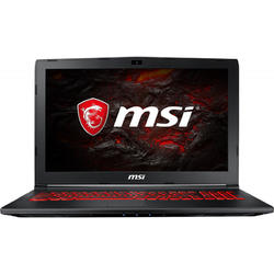 GL62M 7REX, 15.6'' FHD, Core i7-7700HQ 2.8GHz, 8GB DDR4, 1TB HDD + 128GB SSD, GeForce GTX 1050 Ti 4GB, Red Backlit, FreeDOS, Negru