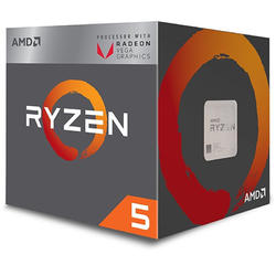 Ryzen 5 2400G Raven Ridge, 3.6GHz, 6MB, 65W, Socket AM4, Box