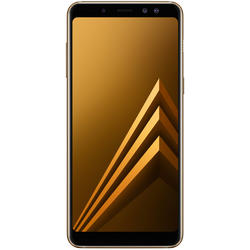 Galaxy A8 (2018), Dual SIM, 5.6'' Super AMOLED Multitouch, Octa Core 2.2GHz + 1.6GHz, 4GB RAM, 32GB, 16MP, 4G, Gold
