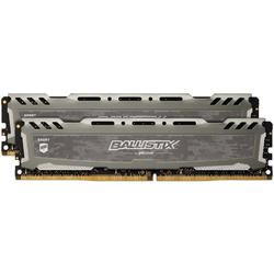 Ballistix Sport LT Gray, 8GB, DDR4, 2666MHz, CL16, 1.2V, Kit Dual Channel